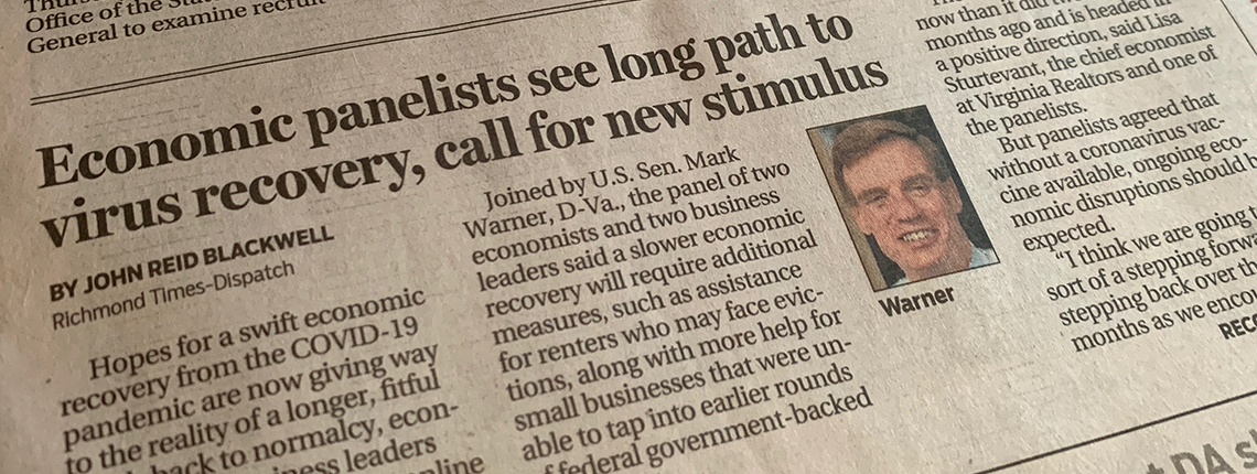 IREM®-Central Virginia Chapter event was featured on the front page of the Richmond Times-Dispatch.